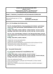 Lehrplan für das Sommersemester 2013 Module 3 und 4 ...