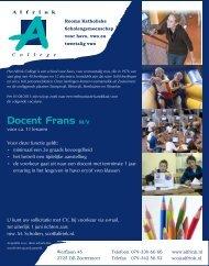 Docent Frans M/V - Alfrink College