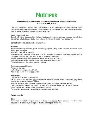 Conseils alimentaires pour accompagner la cure de ... - Nutripur
