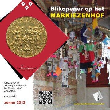 blikopener zomer 2012 - Het Markiezenhof