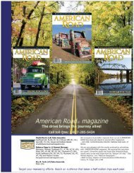 Page 1 Page 2 American Road@ magazine The premier i::|uarter|iyl ...