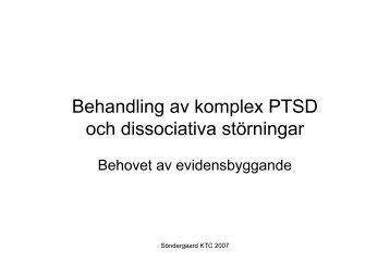 Behandling av komplex PTSD och dissociativa störningar - Kris