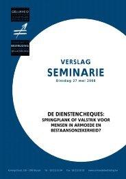 Verslag van het seminarie