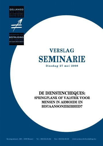 """Verslag van het seminarie """"De dienstencheques: springplank of ..."""