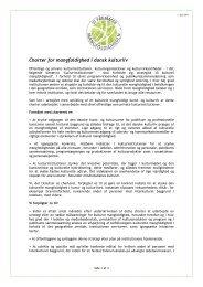 Charter for kulturel mangfoldighed [PDF] - Center for Kunst ...