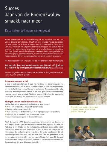 Resultaten jaar van de boerenzwaluw - Vogelbescherming Nederland