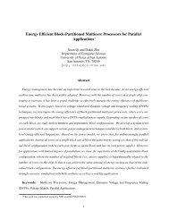 Energy Efficient Block-Partitioned Multicore Processors for Parallel ...