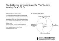 """At arbejde med genrelæsning ud fra """"The Teaching learning Cycle ..."""
