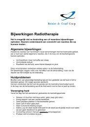 Bijwerkingen Radiotherapie