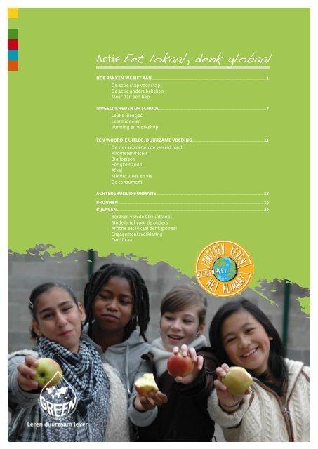 Actie Eet lokaal, denk globaal - Jongeren Keren Het Klimaat