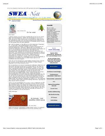 Siv har ordet Ny hemsida - med bibehållen SWEA-känsla