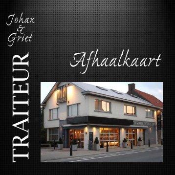 Download onze afhaalkaart - Traiteur - Johan & Griet