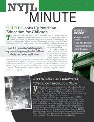 CHEF Cooks Up Nutrition Education for Children - New York Junior ...