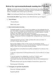 Referat fra bestyrelsesmøde mandag den 27