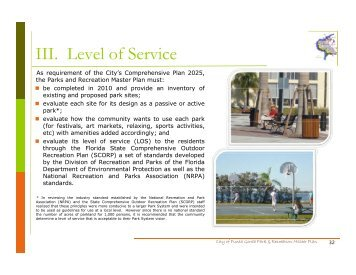 Level of Service - City of Punta Gorda