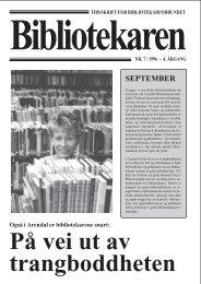SEPTEMBER - Bibliotekarforbundet