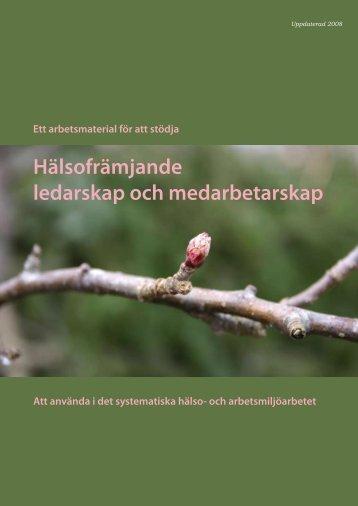 Hälsofrämjande ledarskap och medarbetarskap - Institutet för ...