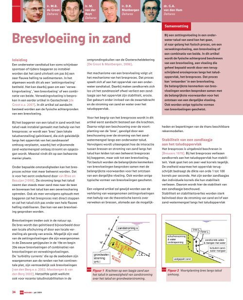 Geotechniek Bresvloeiing in zand