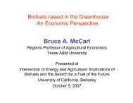 U.S. Agriculture's Role in a Greenhouse Gas Emission Mitigating ...