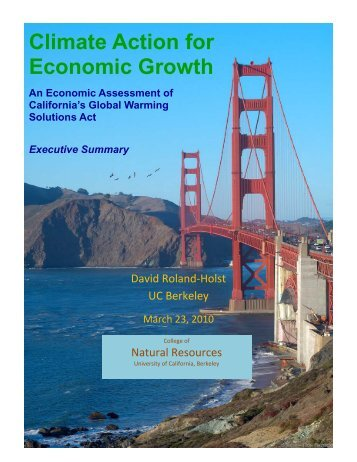 Climate Action for Economic Growth - Agricultural and Resource ...