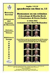 Quaderno 13 - Comune di Brescia