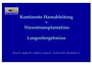 Kontinente Harnableitung + Nierentransplantation ...