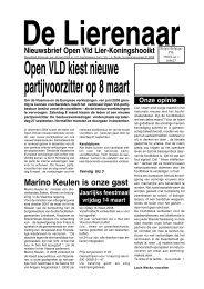 Nieuwsbrief februari 2008 - Open VLD Lier