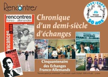 Brochure éditée à l'occasion du 50ème anniversaire - Echanges ...