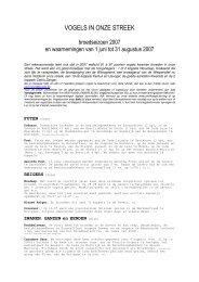 zomer 2007 - Vogelwerkgroep Zuid-West-Vlaanderen