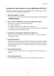 Antecknat från WAI-nätverkets 2'a möte, AMM Uppsala 2013-05-30