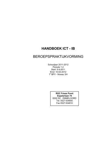 BPV handboek 2011 najaar periode 1 en 2 - Pvb ROC Friese Poort ...