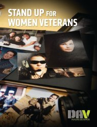 STAND UP for WoMEN VETErANS - Disabled American Veterans