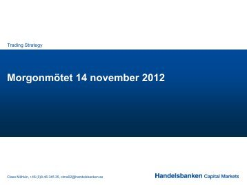 Morgonmötet 14 november 2012 - Macro Research - Handelsbanken