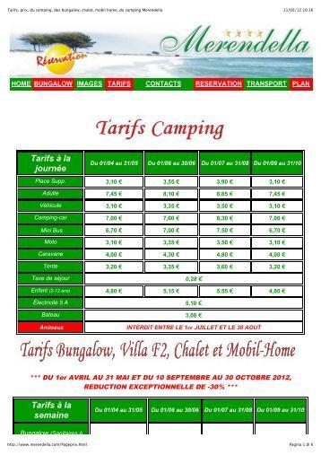Etat descriptif et contrat de location d 39 un mobile home for Tarif location garage