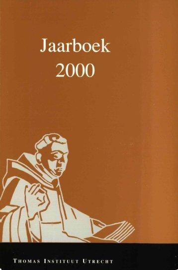 Jaarboek Thomas Instituut 2000