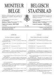 MONITEUR BELGE BELGISCH STAATSBLAD - Awt