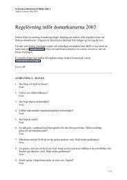 Regelövning inför domarkurserna 2003