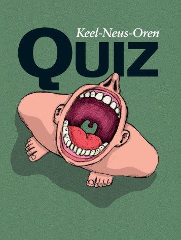 Keel-Neus-Oren Quiz [nr. 9 2011] - wietekevanderven