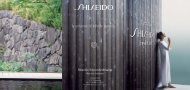Behandelingen prijslijst Shiseido schoonheidssalon.