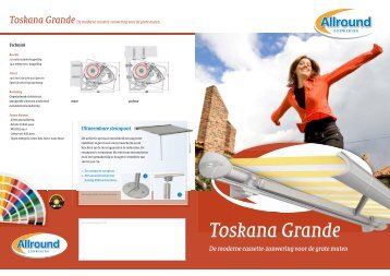 Productfolder Toskana Grande (PDF) - Allround Zonwering