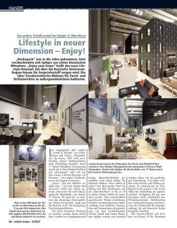Lifestyle in neuer Dimension – Enjoy!