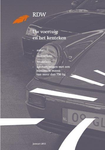Uw voertuig en het kenteken pdf, 1209kb - Rdw