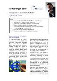 Straßburger Bote – Aktuelle Ausgabe Nr. 7/2010 ... - Martin Kastler