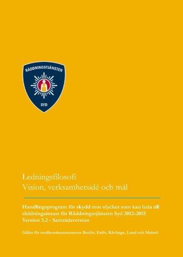 Handlingsprogram 2012-2015 Ledningsfilosofi - Räddningstjänsten ...