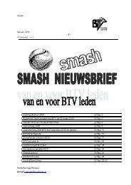Smash februari 2010 - Budelse Tennis Vereniging