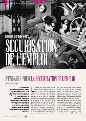 S'ENgAgER POUR LA SÉCURISATION DE L'EMPLOI - Un Monde d ...