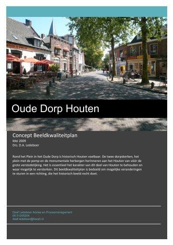 Intern Stuk concept beeldkwaliteitplan Oude Dorp (IS09.0078)
