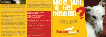 HELP ONS HELPEN! - Greyhound Friends NL