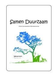 Brochure Samen Duurzaam Westerkerk - Noach Alliantie