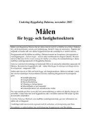 Målen - För bygg - Dalarna.se